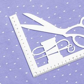 Ткань на отрез интерлок пенье Сердечки матвайс R324 фото