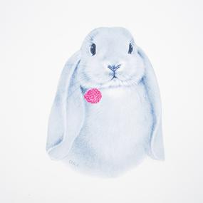 Аппликация термо Кролик 29*23см фото