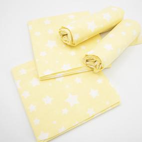 Набор детских пеленок поплин 4 шт 73/120 см 1733/6 цвет желтый фото