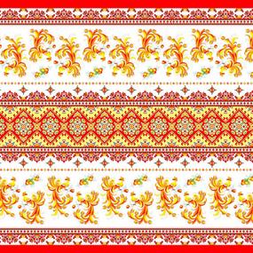 Ткань на отрез вафельное полотно набивное 150 см 328/1 Жар-птица цвет красный фото