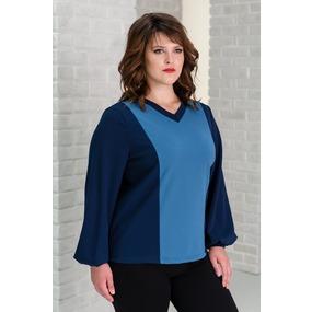 Блуза 0095 цвет Синий р 58 фото