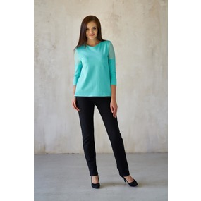 Блуза 0166-14 цвет Ментол р 44 фото