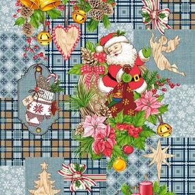 Полотно вафельное 50 см набивное арт 60 Тейково рис 5642 вид 3 Дед Мороз фото