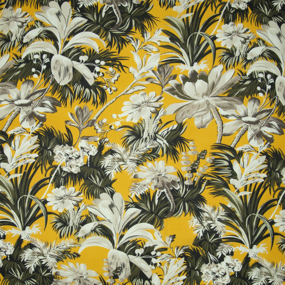 Ткань на отрез шифон 150 см 2284 Тропики цвет желтый фото