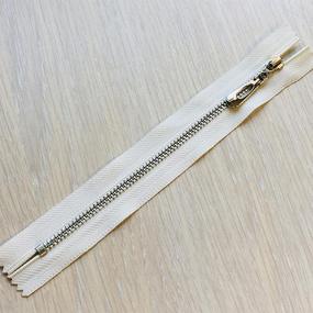 Молния металл №4 н/р никель 18см D841 белый фото