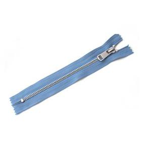 Молния металл №5 никель н/р 18см D231 серый синий фото