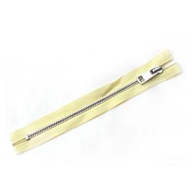 Молния металл №5 никель н/р 18см D802 желтый фото