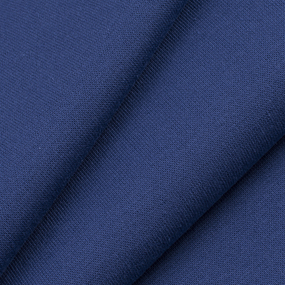 Ткань на отрез рибана с лайкрой М-2104 цвет индиго фото