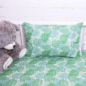 Постельное белье в детскую кроватку из поплина 2008/1 Монстера фото