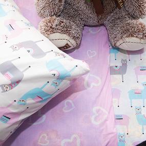 Постельное белье в детскую кроватку из поплина 2137/1+395/2 фото