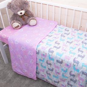 Постельное белье в детскую кроватку из поплина 2137/1+395/2 с простыней на резинке фото
