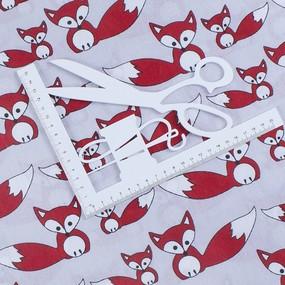 Ткань на отрез бязь плательная 150 см 463/1 Лисята фото