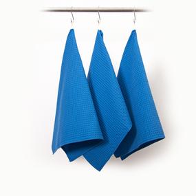 Набор вафельных полотенец Премиум 3 шт 45/70 см 556-3 василек фото