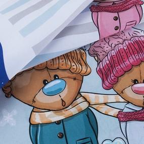 Ткань на отрез сатин детский 150/75 см 09 Зимняя сказка фото
