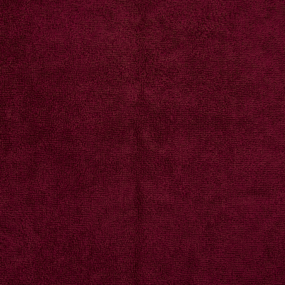 Ткань на отрез махровое полотно 150 см 390 гр/м2 цвет винный фото