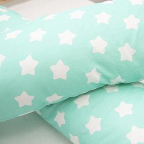 Наволочка бязь на подушку для беременных U-образная 1737/16 цвет мята фото
