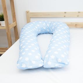 Наволочка бязь на подушку для беременных U-образная 1737/3 цвет голубой фото