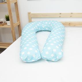Наволочка бязь на подушку для беременных U-образная 1737/7 цвет бирюза фото