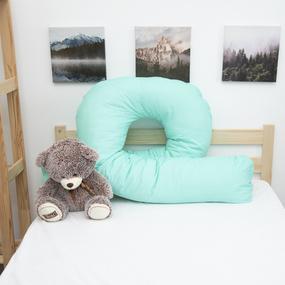 Наволочка бязь на подушку для беременных U-образная 1590/16 цвет мята фото