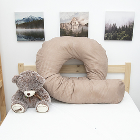 Наволочка бязь на подушку для беременных U-образная 1590/18 цвет кофе фото