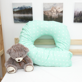 Наволочка бязь на подушку для беременных U-образная 1700/16 цвет мята фото