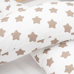Наволочка бязь на подушку для беременных U-образная 1737-А/18 цвет кофе фото