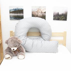Наволочка бязь на подушку для беременных U-образная 1746/17 цвет серый фото