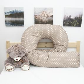 Наволочка бязь на подушку для беременных U-образная 1746/18 цвет кофе фото