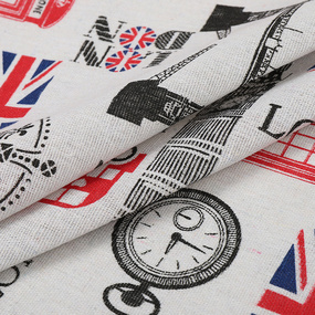 Ткань на отрез лен TBY-DJ-39 Лондон фото
