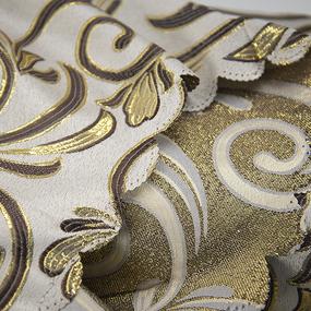 Портьерная ткань с люрексом 150 см на отрез 5222 цвет серый/золото фото