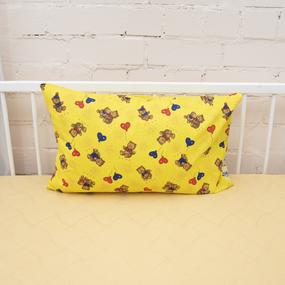 Наволочка бязь детская Плюшевые мишки цвет желтый 40/60 см фото