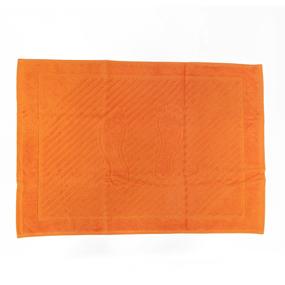 Полотенце махровое ножки 700 гр/м2 Туркменистан 50/70 см цвет мандарин фото
