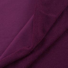 Ткань на отрез футер 3-х нитка компакт пенье цвет сливовый фото