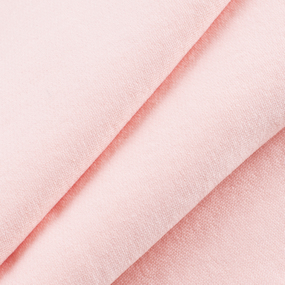 Ткань на отрез футер 3-х нитка компакт пенье начес цвет персиковый фото