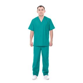 Костюм Хирург рукав короткий ТиСи бирюза 60-62 рост 180-188 фото