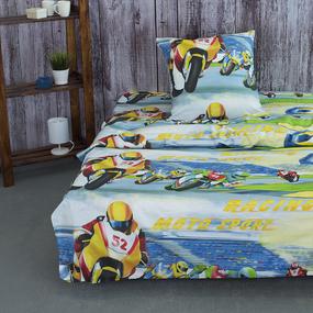 Детское постельное белье из бязи 1.5 сп 13050/1 Мотоциклисты фото
