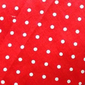 Поплин 150 см 388/20 Горошек цвет красный фото