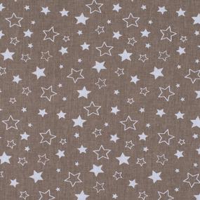 Мерный лоскут бязь плательная 150 см 7174/5 Звезды цвет кофе фото