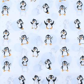 Мерный лоскут бязь плательная 150 см 447 Веселый пингвин фото