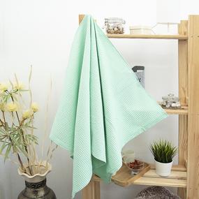 Полотенце вафельное банное Премиум 150/75 см цвет 301 мята фото