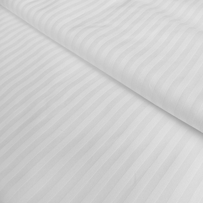 Маломеры страйп сатин полоса 1х1 см 280 см 140 гр/м2 цвет белый 2.22 м фото