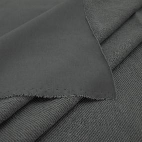Ткань на отрез футер 3-х нитка диагональный цвет серый фото