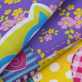Ткань на отрез перкаль 150 см 13083/1 Цветные совушки фото