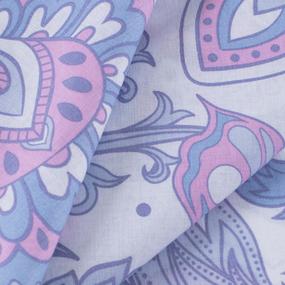 Ткань на отрез перкаль 150 см 13114/1 Лиловое пейсли фото