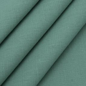 Ткань на отрез лен цвет изумрудный фото