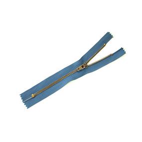 Молния джинсовая №4 антик н/р 16см D839 синий фото