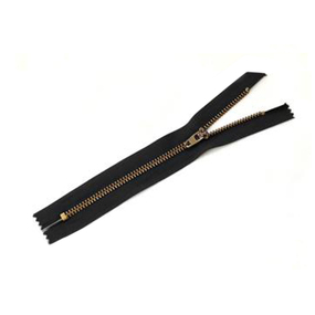 Молния джинсовая золото №5 18см D580 черный авт фото