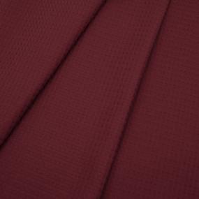 Ткань на отрез вафельное полотно гладкокрашенное 150 см 240 гр/м2 7х7 мм цвет 036 цвет бордо фото