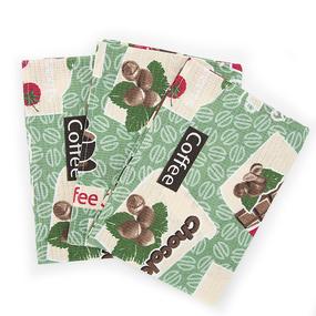 Набор вафельных полотенец 3 шт 35/70 см 366-7 Шоколадный фото