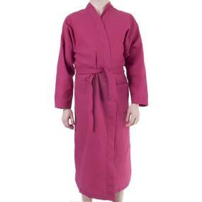 Халат мужской вафельный шалька рубиновый р 44 фото